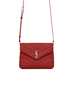 YVES SAINT LAURENT YSL Toy Loulou in Red SHW