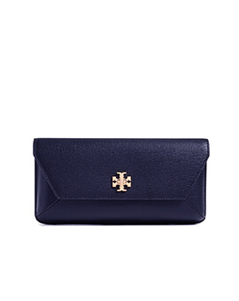 TORY BURCH TB Kira Clutch in Navy