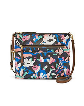 FOSSIL Fiona Large Crossbody Black Floral