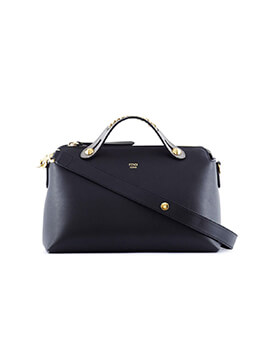 FENDI Small By The Way BTW in Black with Chain Handle