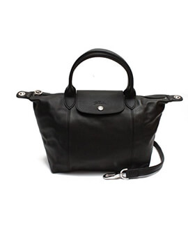 LONGCHAMP Small Cuir in Black