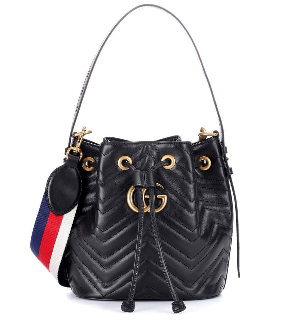GUCCI Marmont in Black Bucket Bag