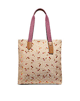 COACH CHERRY TOTE LIGHT KHAKI MULTI