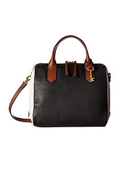 FOSSIL Fiona Satchel Black/White