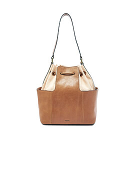 FOSSIL Cooper Bucket Drawstring Tan