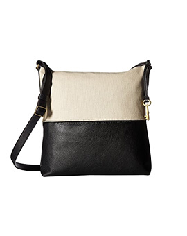 FOSSIL Charlotte Hobo Black White