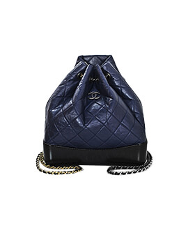 CHANEL Gabrielle Backpack Navy Black #25