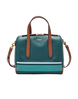 FOSSIL Sydney Satchel Blue Multi