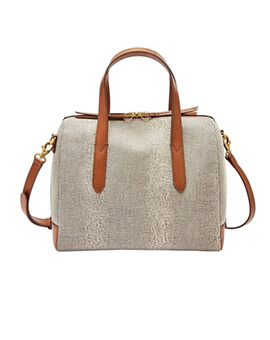 FOSSIL Sydney Satchel Grey Lizard