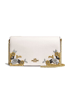 COACH Foldover Chain with Metal Tea Rose