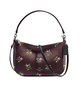COACH 22830 FLORAL CHARLES CROSSBODY OX BLOOD
