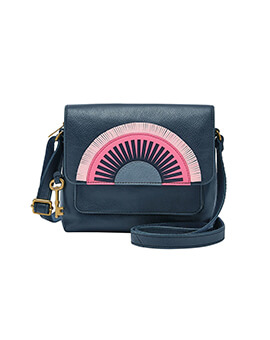 FOSSIL Kinley Crossbody Midnight Navy