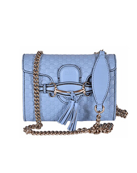 GUCCI Mini Emily Blue SHW