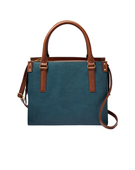 FOSSIL Claire Satchel Indian Teal