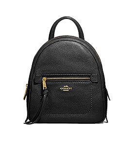 COACH Pebbled Leather Andi Backpack Black