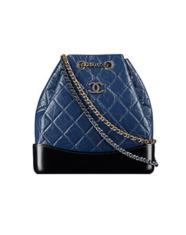 CHANEL Gabrielle Backpack in Navy #25