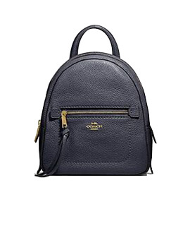 COACH Pebbled Leather Andi Backpack Midngiht Navy