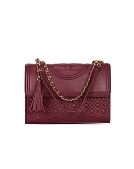 TORY BURCH TB Fleming Convertible in Maroon