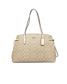 COACH Drawstring Carryall Light Khaki Chalk
