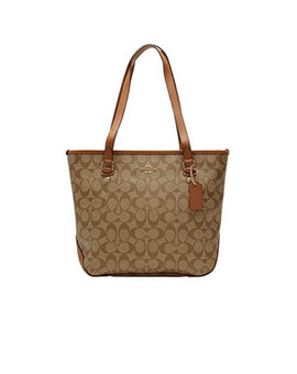 COACH Zip City Sign Sadle Tote
