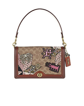 COACH X Keith Haring: Riley Red Patchwork