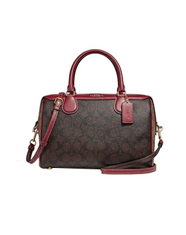 COACH Large Bennett Colorblock Brown Multi