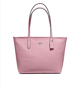 COACH CITY ZIP TOTE DUSTY ROSE