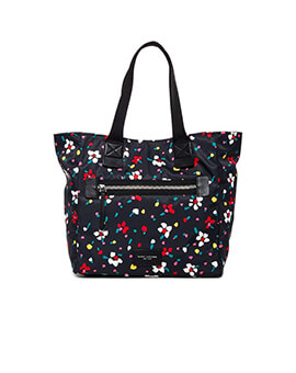 MARC JACOBS NYLON TOTE BLACK MULTI