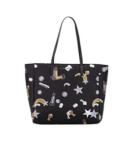 MARC JACOBS PRINTED TOTE BLACK MULTI