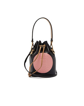 FENDI Mini Mon Tresor in Black/Beige