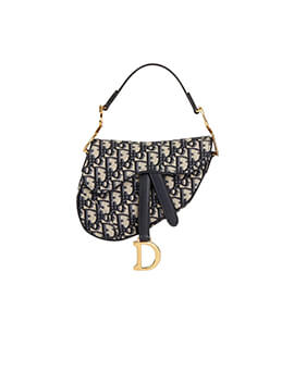 DIOR Mini Saddle Oblique Jaquard