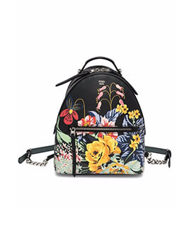 FENDI Small Backpack in Printed Flower