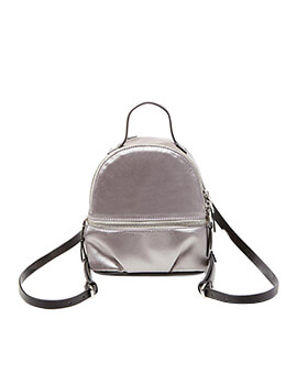STEVE MADDEN MINI SATIN BACKPACK GREY