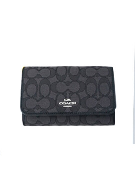 COACH WALLET 28327B SIGNATURE BLACK