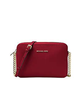 MICHAEL KORS MK Large East West Scarlet