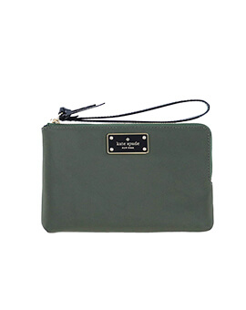 KATE SPADE LEONI EVERGREEN DOUBLE ZIP WRISTLET
