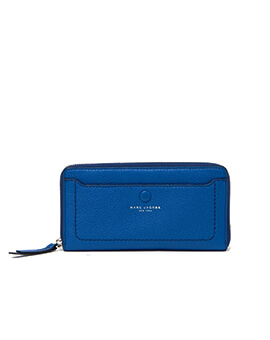 MARC JACOBS WALLET ZIP AROUND ULTRA BLUE