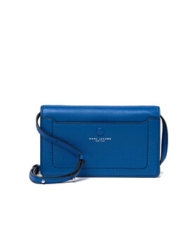 MARC JACOBS EMPIRE CITY WALLET CROSSBODY ULTRA BLUE