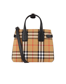 BURBERRY Check Bay Banner Bag