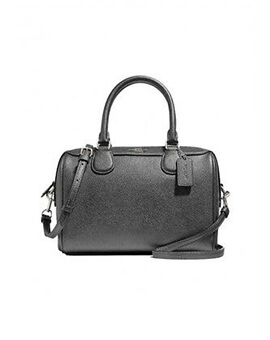 COACH F39706 Mini Bennet Metallic Gunmetal