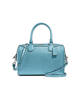COACH F39706 Mini Bennet Satchel Metallic Sky Blue