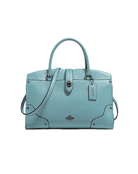 COACH F37575 Grain Mercer 30 Satchel Cloud